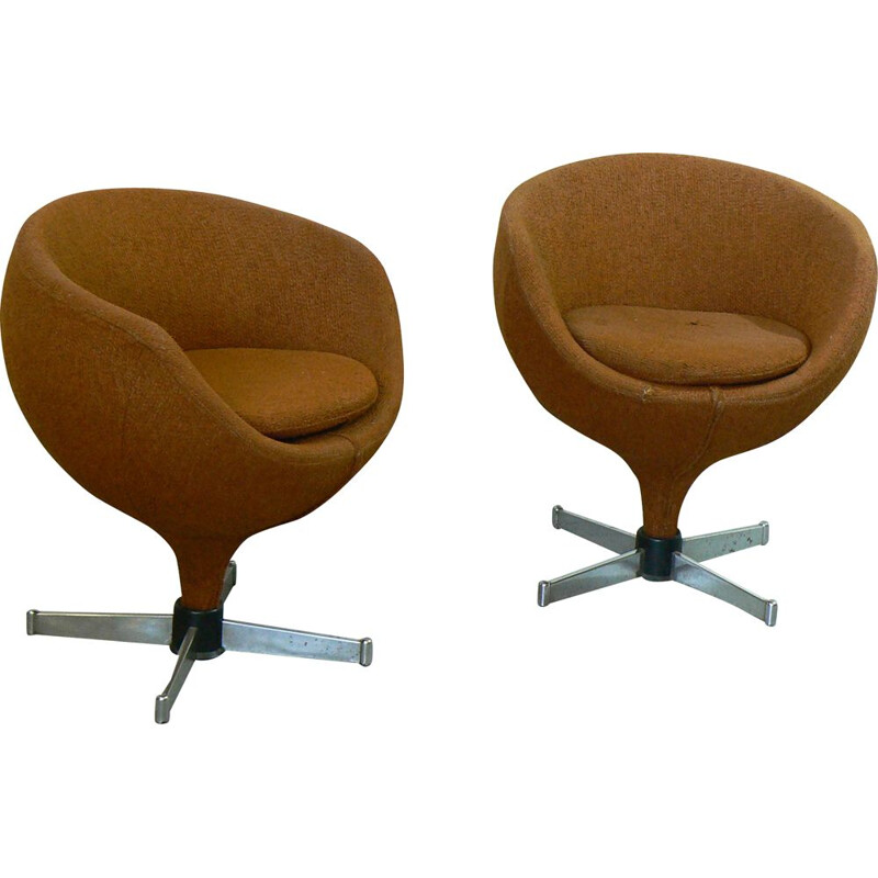 Pair of vintage Luna armchairs by Pierre Guariche for Meurop, 1960