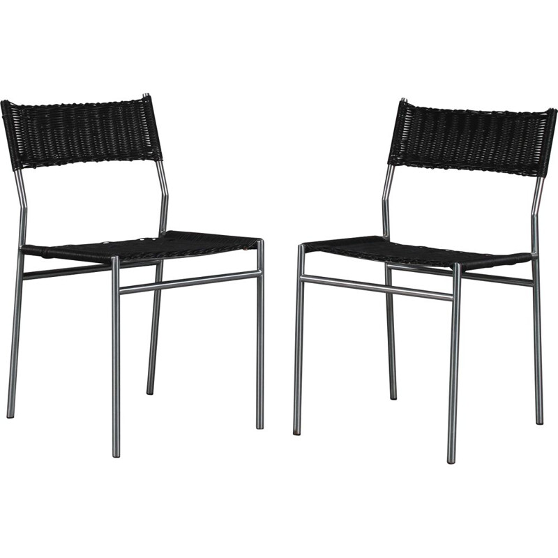 Pair of vintage dining chairs by Martin Visser for Spectrum, Netherlands 1960s