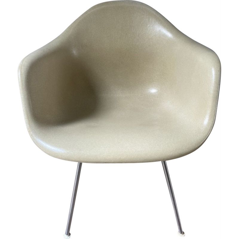 DAX vintage armchair in stainless steel fibreglass by Charles Eames for Hermann Miller, 1975