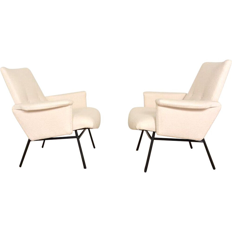 Pair of vintage armchairs model SK660 by Pierre Guariche for STEINER, 1953
