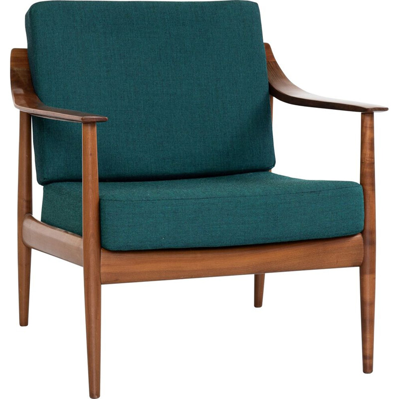 Vintage armchair in cherry wood by Knoll, Germany 1960s
