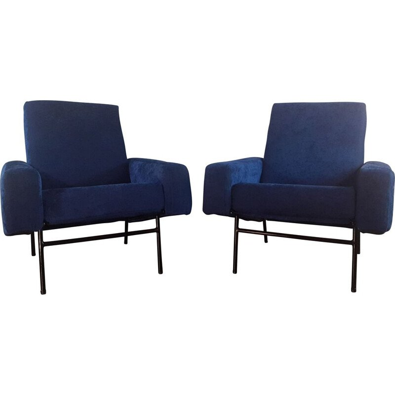 Pair of vintage armchairs model G10 by Guariche for Airborne, 1955