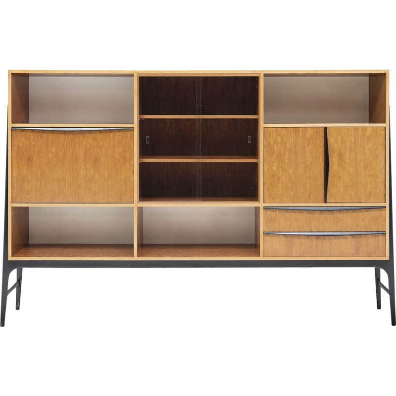 Vintage high bookcase by Alfred Hendrickx for Belform, Belgium 1950s