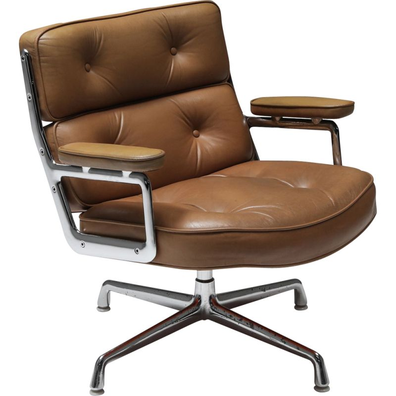 Vintage ES108 Time Life Lobby desk armchair by Charles & Ray Eames for Herman Miller, 1970s