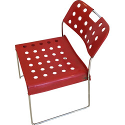 Omstak chair in perforated painted metal, Rodney KINSMAN - 1970