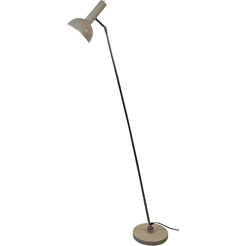 Adjustable Hala floor lamp in white lacquered metal, Hermann BUSQUET - 1970s