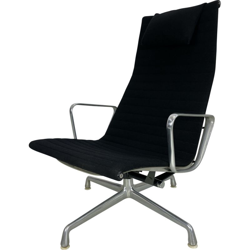 Vintage EA 124 desk armchair by Charles and Ray Eames for Herman Miller, 1970s