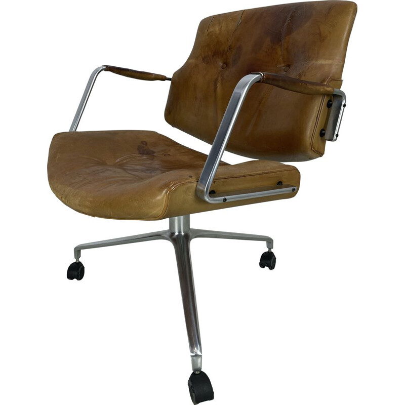 Vintage FK 84 desk armchair by J.Kastholm and P.Fabricius for Kill