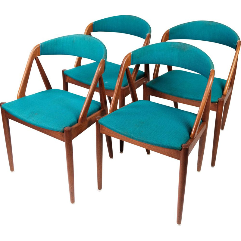 Set of 4 vintage dining chairs model 31 by Kai Kristiansen for Schou Andersen, 1960s