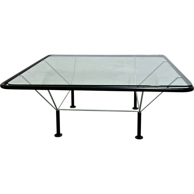 Italian B&B coffee table in chromed metal and glass, Paolo PIVA - 1970s