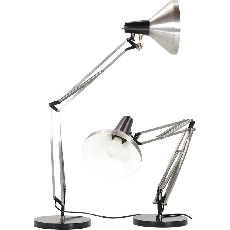 "Pair of industrial Hala Zeist ""Angelpoise"" desk lamp - 1960s"