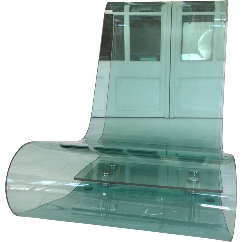 """""""LCP"""" vintage armchair in a single sheet of transparent methacrylate by Marteen Van Severen for Kartell"""