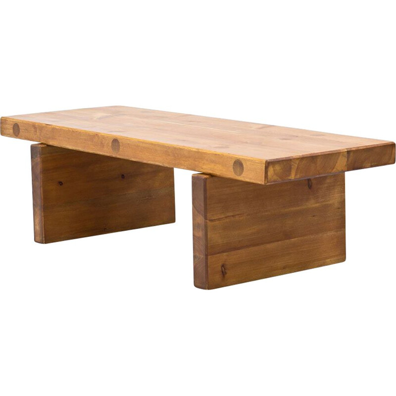 Vintage solid pine bench by Roland Wilhelmsson for Karl Andersson & Sons, Sweden 1970s