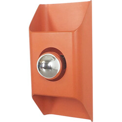 Kaiser Leuchten orange wall lamp in metal - 1970s