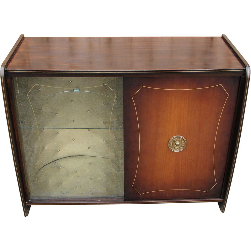 Mid century bar cabinet with gramophone, 1960s