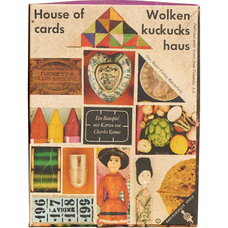 Vintage house of cards by Eames