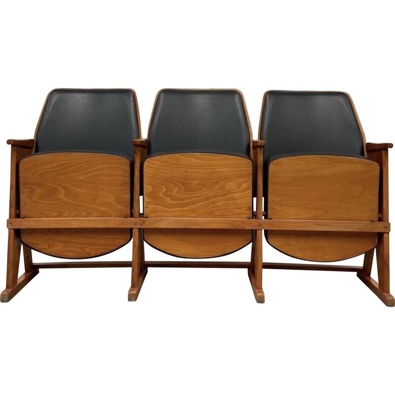 Vintage cinema bench by TON, 1970s