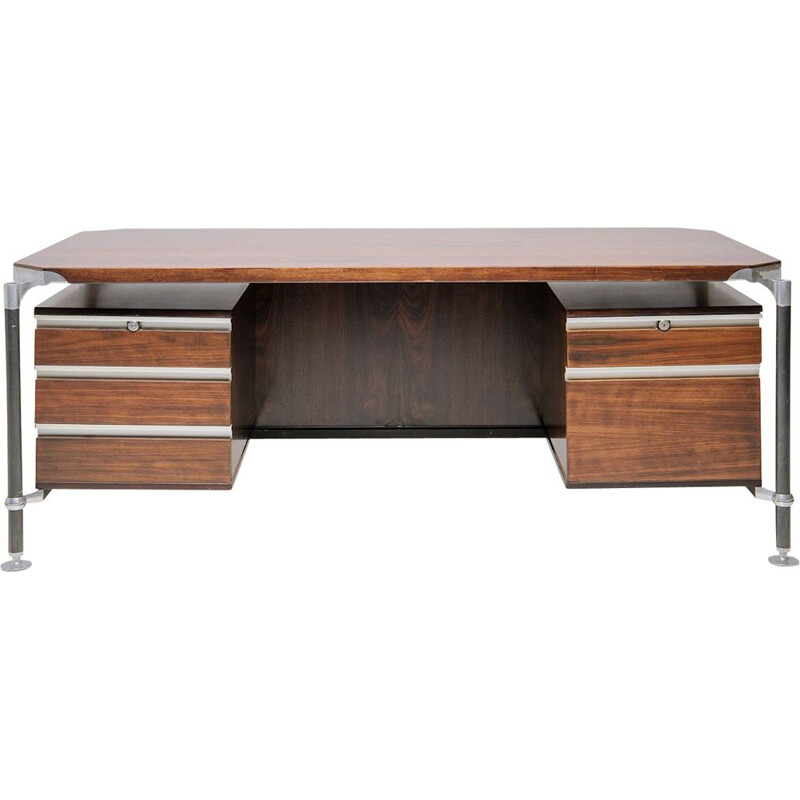 Mid-century large executive desk by Luisa & Ico Parisi for MIM, Italy 1960s