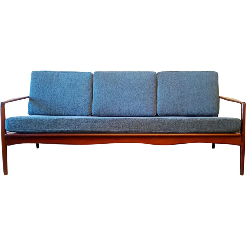 3-seater sofa vintage with Scandinavian lines, 1960s