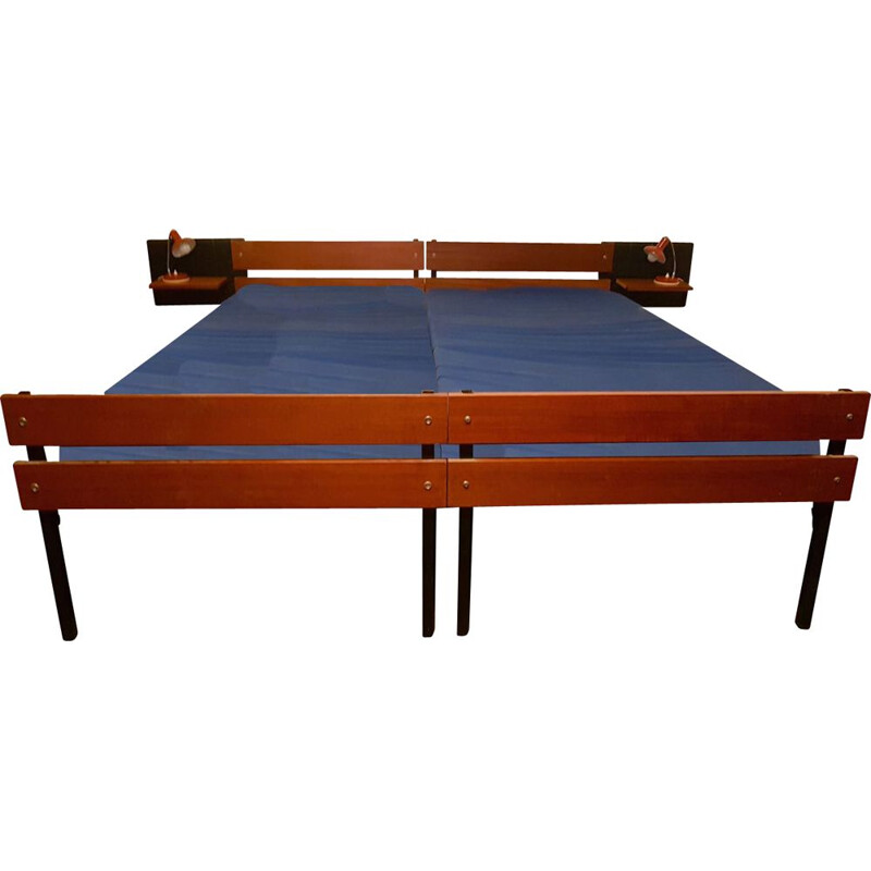 Vintage modernist double bed by Dico Holland, 1960