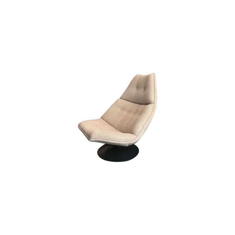 Vintage large armchair by Harcourt for Artifort, 1970s