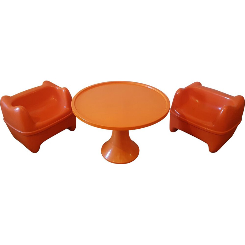 Vintage children's lounge with 2 Zorro armchairs for Meurop