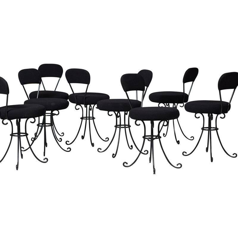 Set of 8 vintage exclusive Marcel Wanders chairs by Marcel Wanders and Tom Dixon
