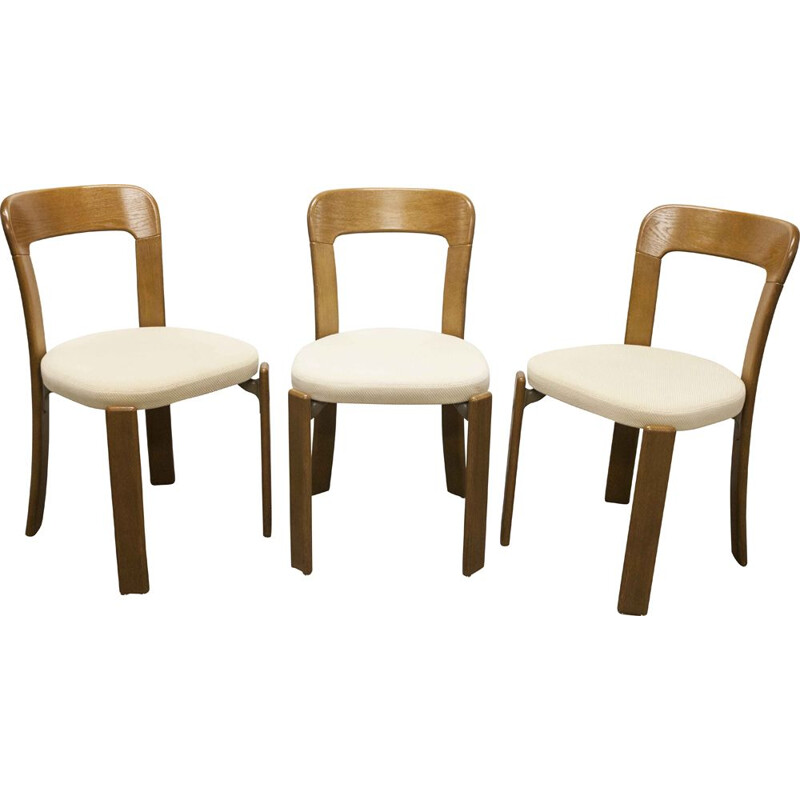 Set of 3 vintage chairs by Bruno Rey for Dietiker Basel, 1970s