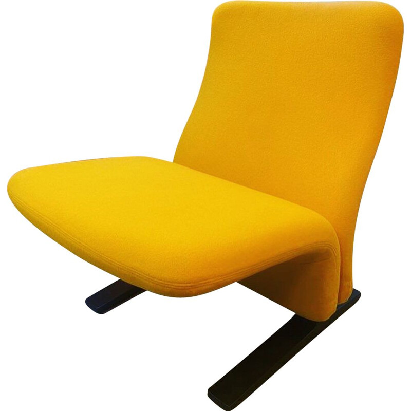 Vintage yellow armchair by Pierre Paulin