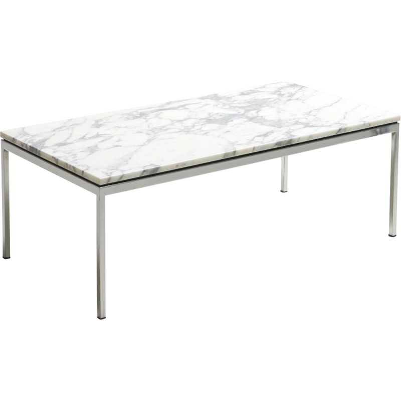 Vintage coffee table with a marble top by Florence Knoll for Knoll Int., Germany 1950's