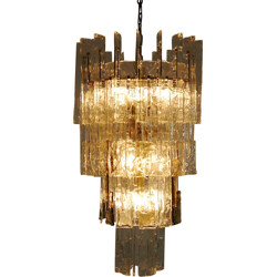 Large glass chandelier from Mazzega - 1960s