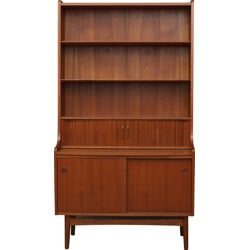 Danish secretary desk in teak wood, Johannes SORTH - 1950s