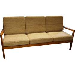3 seaters daybed sofa in teak, Ole WANSCHER - 1960s