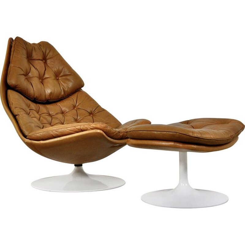 Mid-century chair and ottoman F510 by Geoffrey Harcourt for Artifort, 1960s