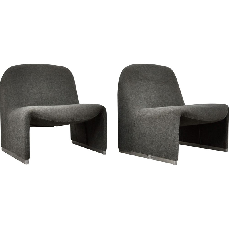 Mid-century Alky armchairs by Giancarlo Piretti for Anonima Castelli, 1970s