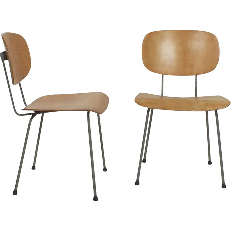 Set of 2 vintage Gispen model 116 chairs by Wim Rietveld, 1953s