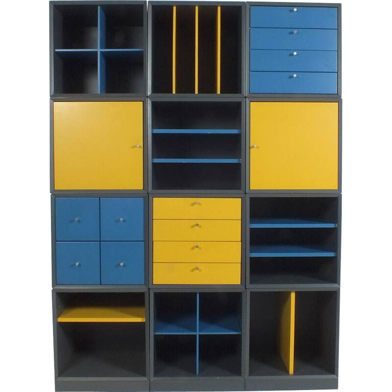 Mid-century modular system Q-bus by Cees Braakman for Pastoe
