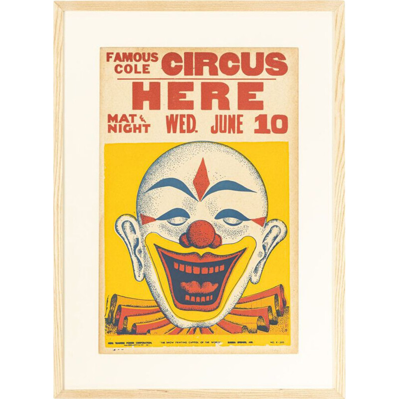 Vintage circus poster, 1940s