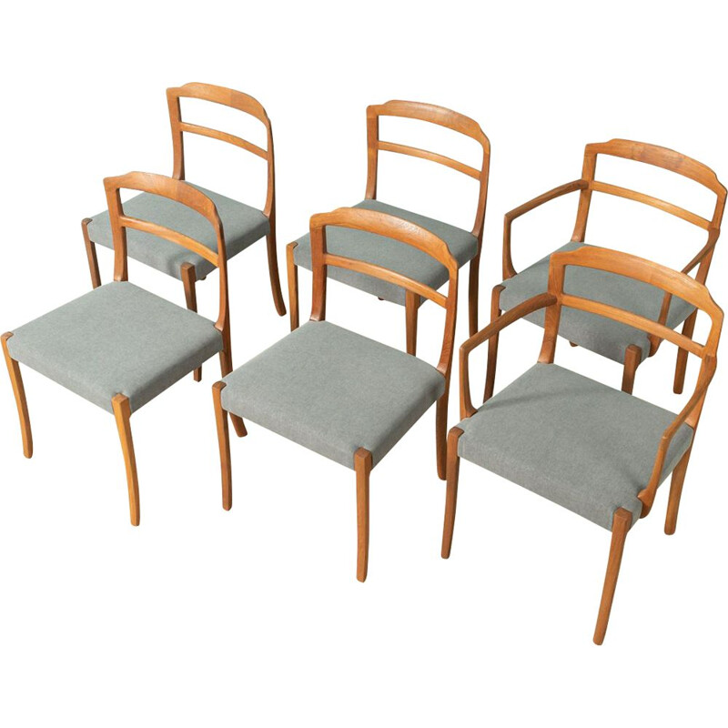 Vintage 6 dining chairs by Ole Wanscher for A.J. Iversen, 1960s