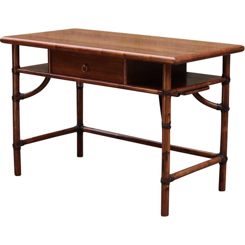 Vintage bamboo desk by Mc Guire