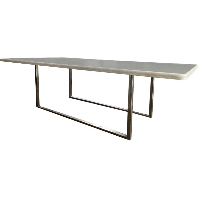 Vintage Carare marble table, 1970
