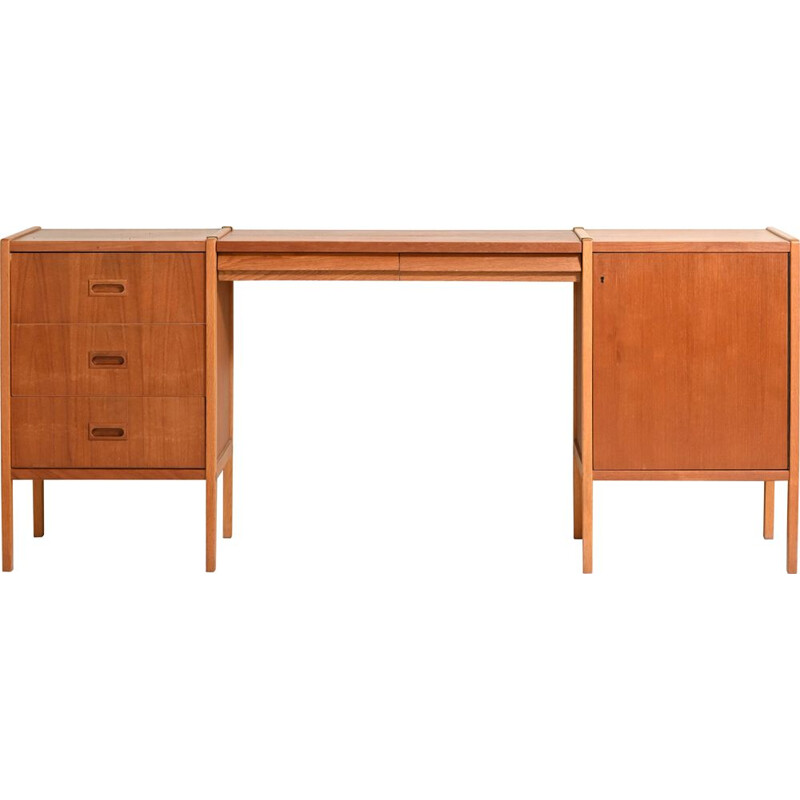 Mid-century Bodafors modular desk with drawers, 1960s