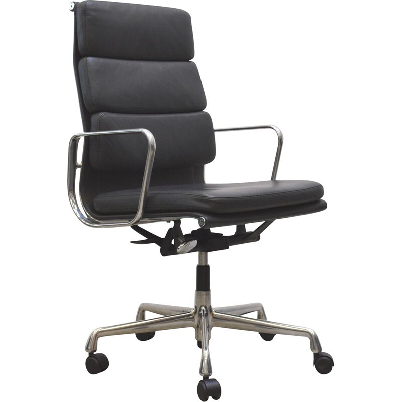 Vintage EA219 Soft Pad office armchair by Charles Eames for Vitra