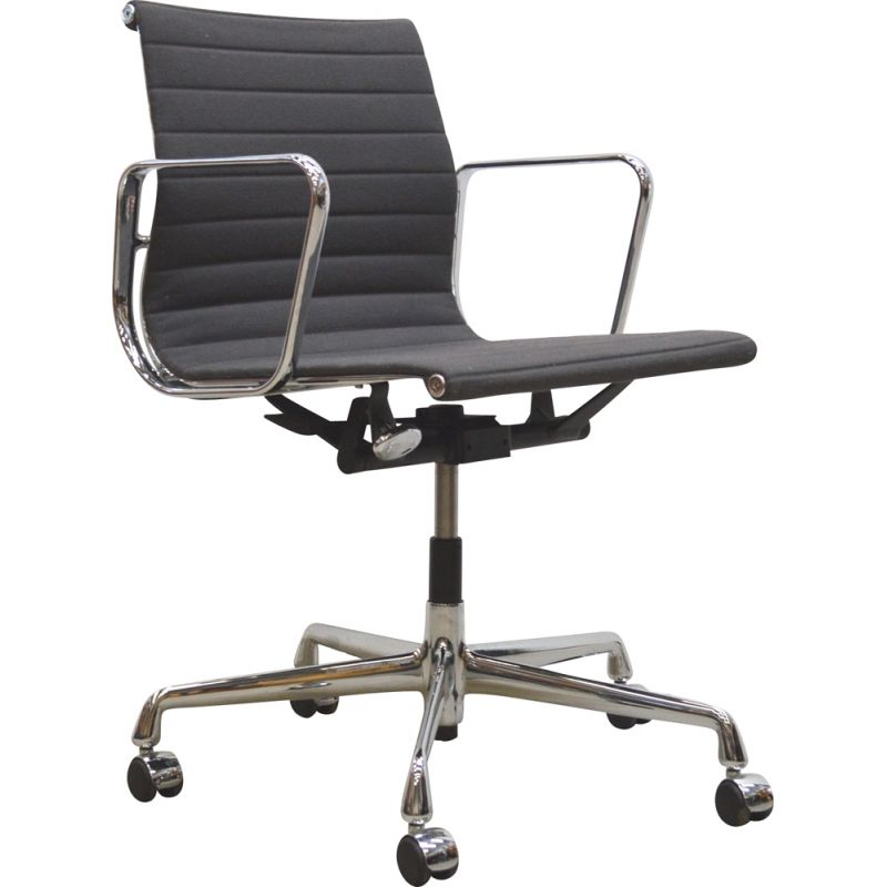 Vintage grey Hopsak office armchair by Charles Eames for Vitra