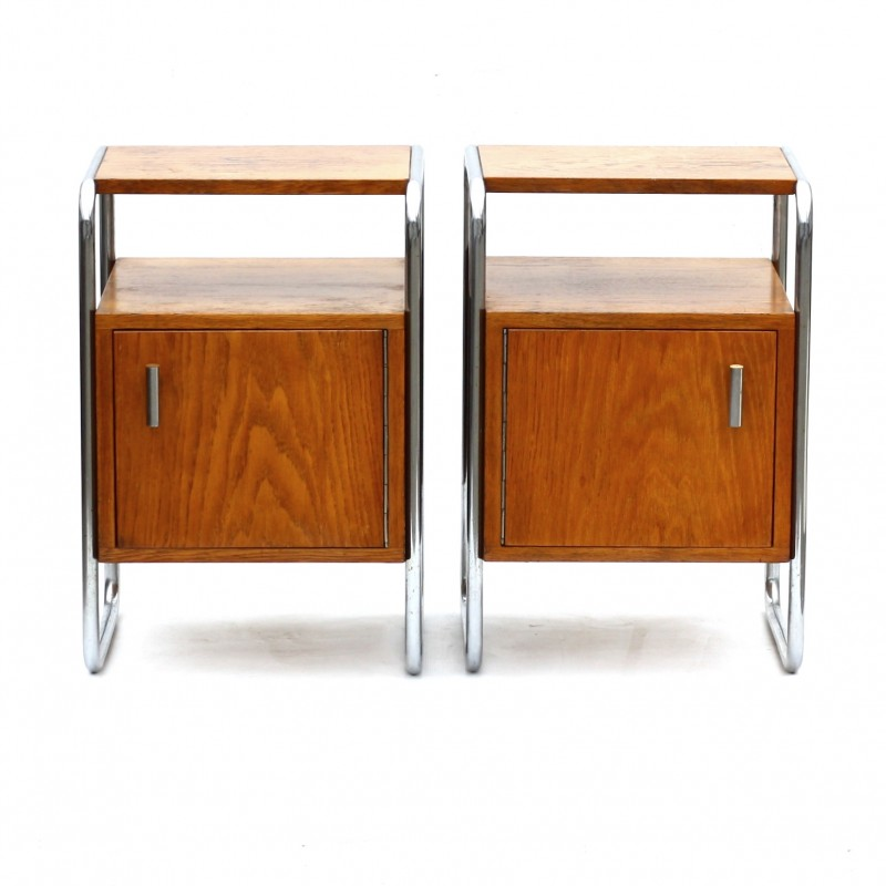 Set of bedside tables with storage Robert SLEZAK - 1950s  sc 1 st  Design Market & Set of bedside tables with storage Robert SLEZAK - 1950s - Design ...