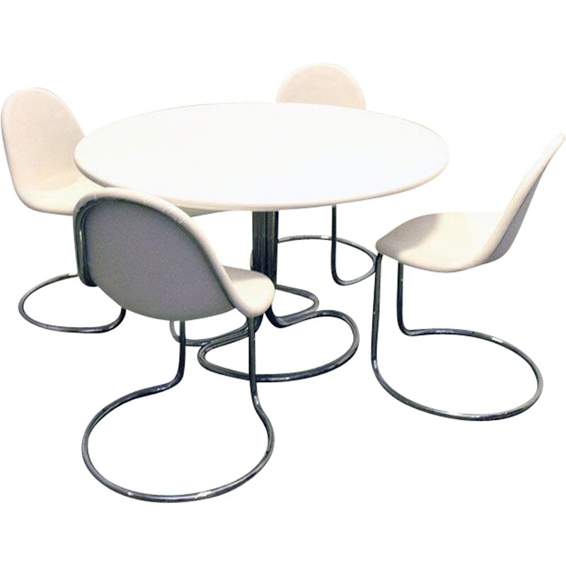 """Vintage """"Maya"""" dining set by Giotto Stoppino for Bernini , 1960s"""