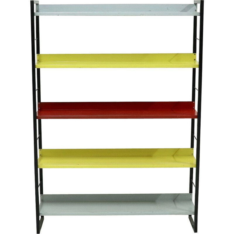 Mid century Dutch bookcase by A. Dekker for Tomado, 1950s