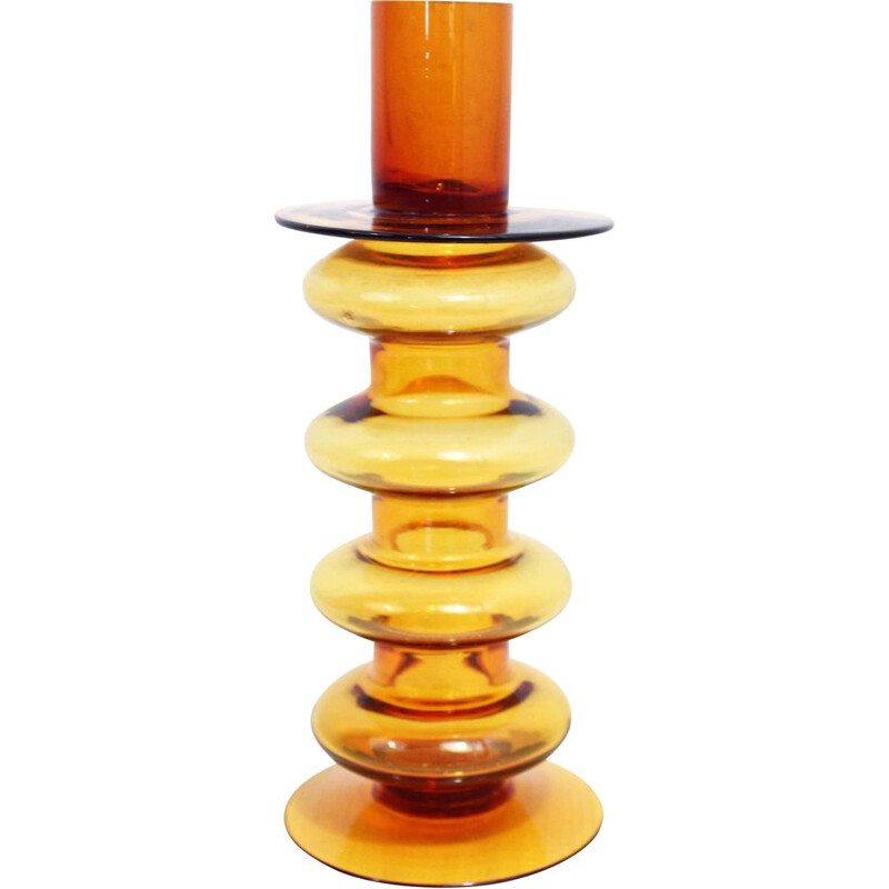 Glass space age candlestick, 1970