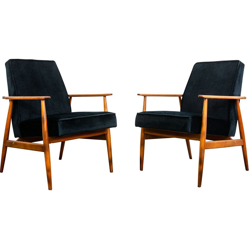 Pair of vintage armchairs type 300-190 by H. Lis, 1960s