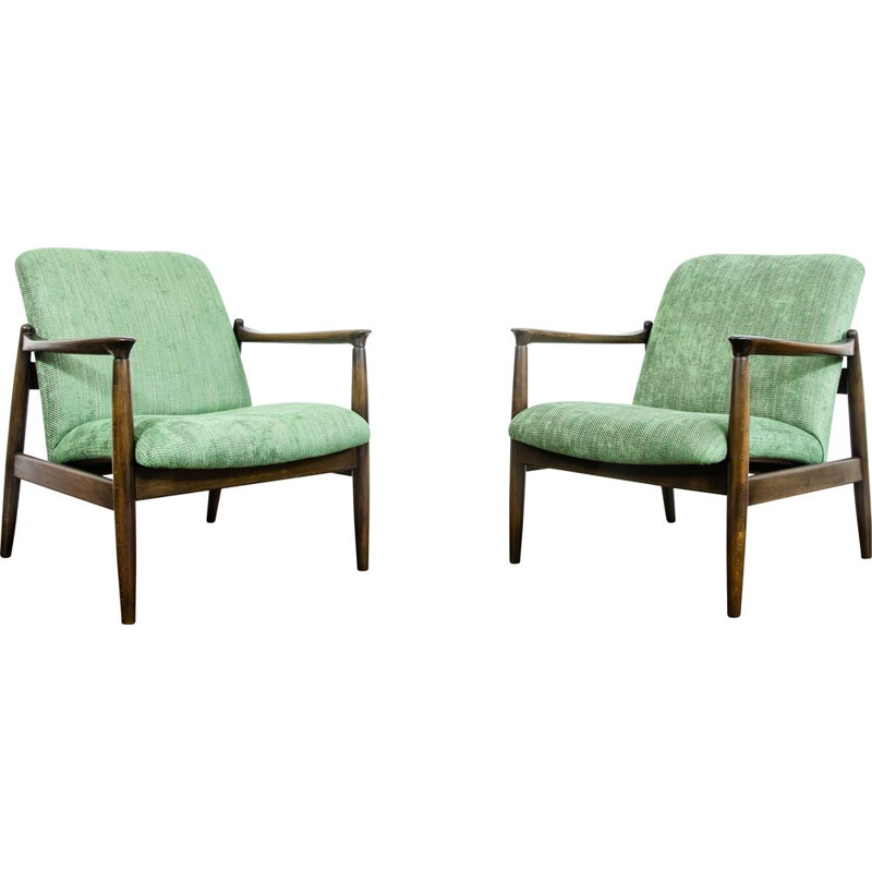 Pair of vintage GFM-64 armchairs by Edmund Homa, 1960s